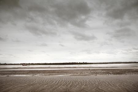 estuary: looking across the estuary to maldon from heybridge basin in essex england
