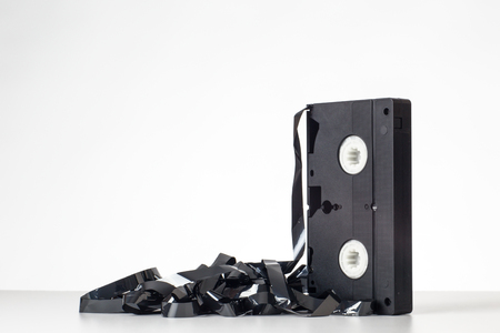 videocassette: still life image of a video cassette tape