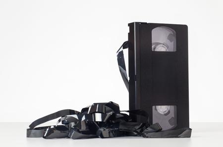 videocassette: Todavía imagen de la vida de una cinta de cassette de vídeo