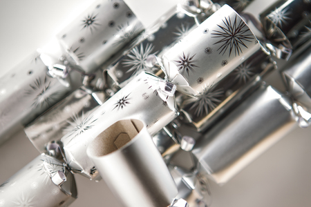 still life image of christmas crackers