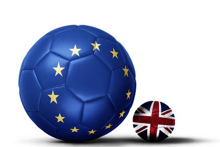 bandera de gran bretaña: 3D, Ilustración, UE, bandera, sobrepuesto, fútbol, ??representar, eu, conflicto, Gran Bretaña ... Foto de archivo