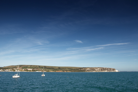 swanage seascape image looking out to sea 免版税图像