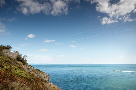 landscape image along the coastline of Anvil Point