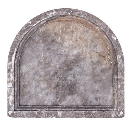 cut out of old stone plaque or grave headstone Stock fotó