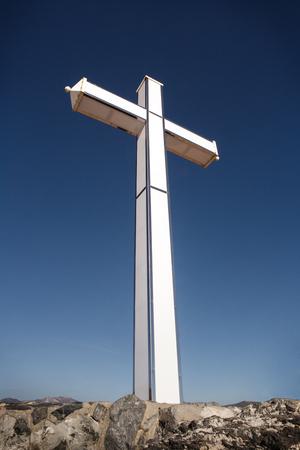 A large cross of  Penones del Santo in costa de tropical Almunecar spain Stockfoto