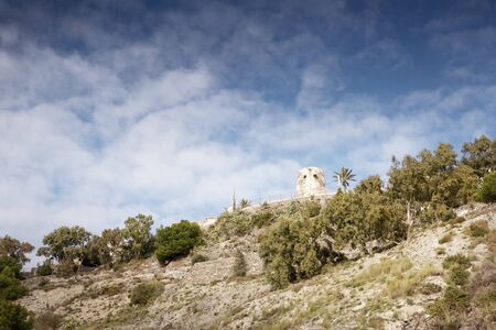landscape of watch tower in almunecar spain
