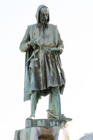 Memorial to the famous mythic Flavio Gioia, inventor of the compass at Amalfi coast,