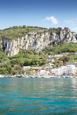 bay on the island of capri in italy