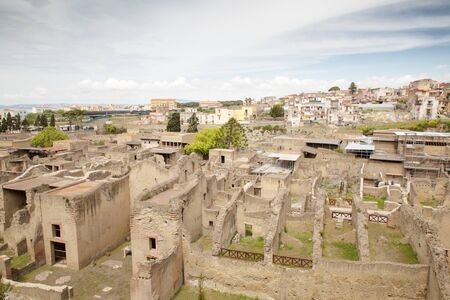 Herculaneum was an ancient Roman town destroyed by Mount Vesuvius. but one of the few ancient cities to be preserved for having been buried in ash.