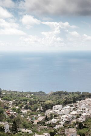 roof top image of building on the island of capri in italy
