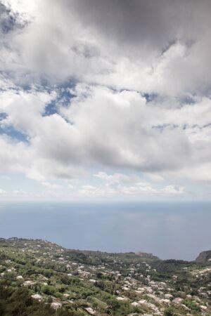 seascape image on Monte Solaro a mountain on the island of Capri the highest point on the island Stock Photo