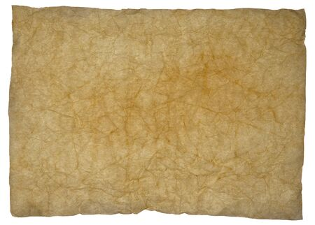 old parchment paper texture on white background