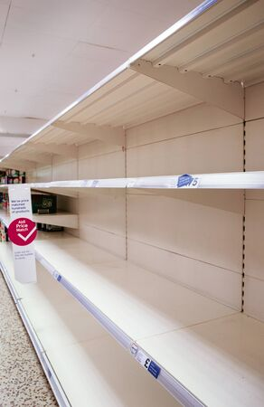 shop sold out of toilet rolls and kitchen towels