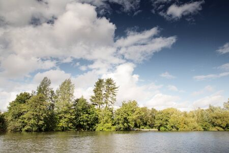 landscape image from a river on the norfolk broads