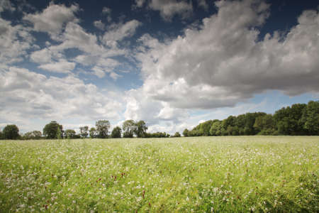landscape image taken on the Adderbury circular walk in the Oxfordshire village of Adderbury, just south of Banbury in england Stock Photo