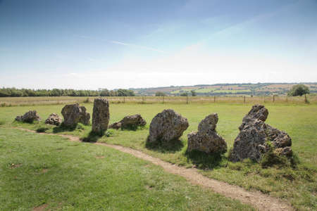 landscape image of the rollright stone in the Oxfordshire Warwickshire border in England