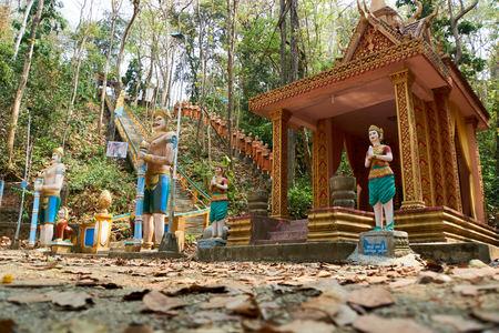 Buddha view. Sambok Pagoda, Kratie Cambodia Temple