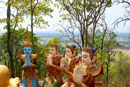 The disciples of Buddha. Sambok Pagoda, Kratie Cambodia