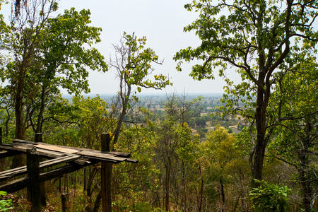 back view. Sambok Pagoda Kratie Cambodia