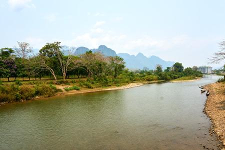 Beautiful landscapes at Vang Vieng , Loas