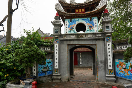 Hanoi, Vietnam - April 30, 2019: Temple of the Jade Mountain on Hoan Kiem Lake in central Hanoi.. Stock Photo - 123536155