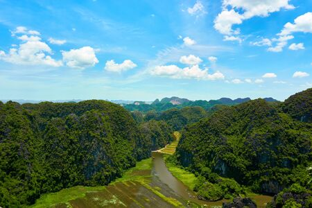 Amazing view from Mua Cave mountain in Ninh Binh Tam Coc