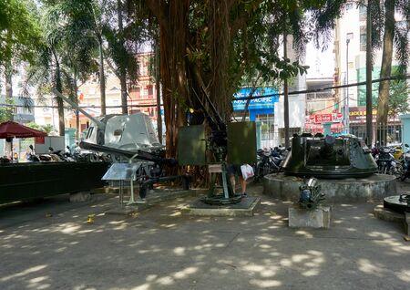HO CHI MINH CITY, VIETNAM - NOVEMBER 20, 2019. Tank at War Remnants Museum saigon. Editöryel