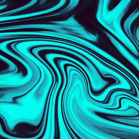 녹색과 검은 색 액체 효과 추상적 인 배경 도트 질감 스타일