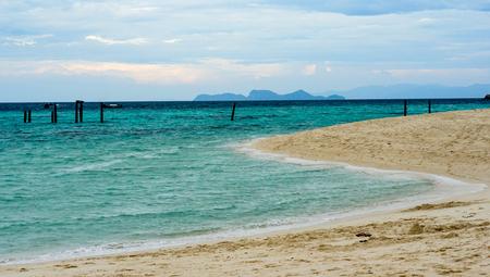 Sunset beach Lipe Island in Thailand