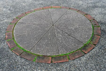 Concrete Pavers Circular Pattern for Background, Texture and Wallpaper