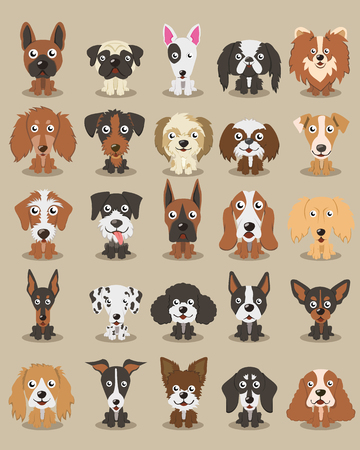 Dog Cartoon Vector 写真素材 - 121192260