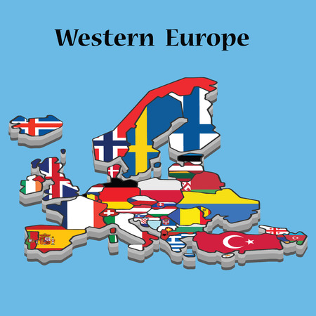Map Western Europe
