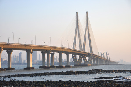 Mumbai Sealink in de stad Mumbai, India