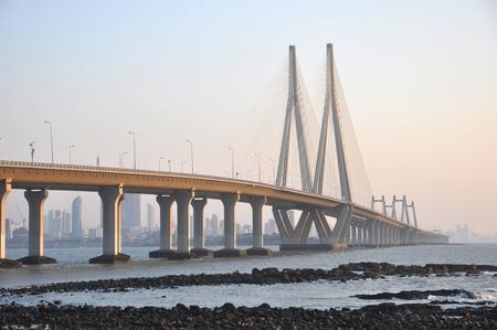 Mumbai Sealink in Mumbai City, India Imagens - 65757533