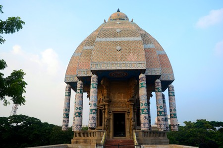 Valluvar Kottam is a famous monument located in Chennai City, India. It is dedicated to classical tamil poet, philosopher, and saint Thiruvalluvar. Stock Photo