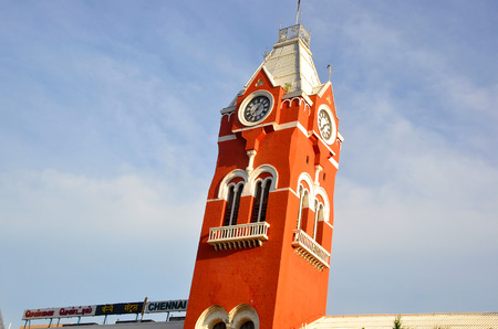 Chennai Central Station, major railway junction of Chennai City, India.
