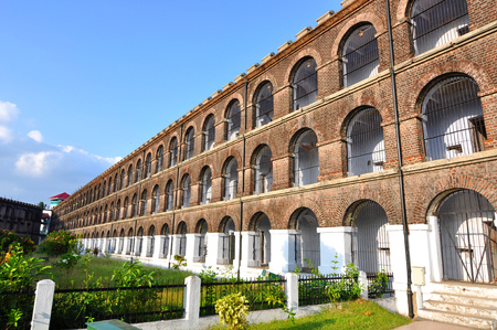 Cellular Jail in Port Blair, Andaman, India. Historical building built by the British.