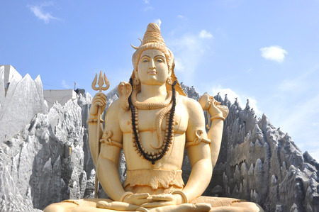 Lord Shiva statue in Shiva temple, Bengaluru, India.