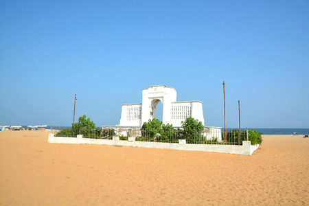 Elliots beach in Chennai City, India. One of the iconic landmark of Chennai.