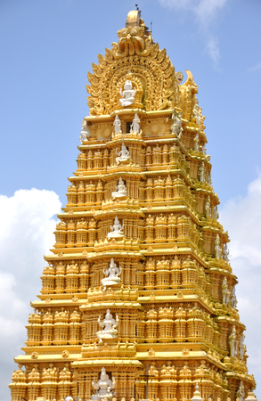 Chamundeshwari Temple in mysore, Karnataka. One of the famous temple in Mysore and located in top of the hill. Stock Photo