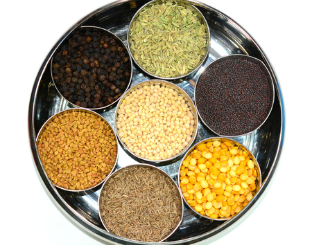 Closeup view of pulses and lentils
