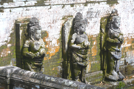 Goa Gajah temple complex located in Bali, Indonesia. Ancient hindu temple and famous tourist attraction in Bali