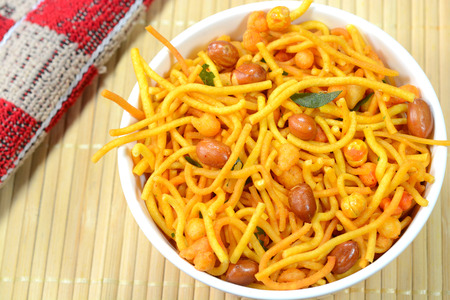 Madras Mixture is a popular snack dish in Southern India. It is spicy, crunchy and prepared during Indian festivals.
