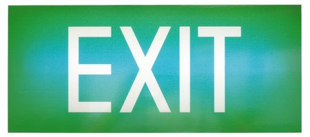 A green illuminated emergency exit sign Stock Photo - 6697560
