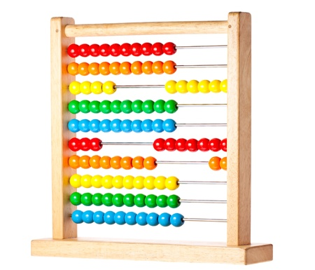 A bright and colorful abacus for children to count and learn on Stock Photo - 8533362