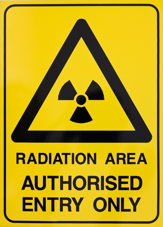 Nuclear radiation or radioactivity warning sign photo