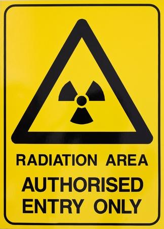 radioattivo: Radiazioni nucleari o segnale di avvertimento di radioattivit� Archivio Fotografico