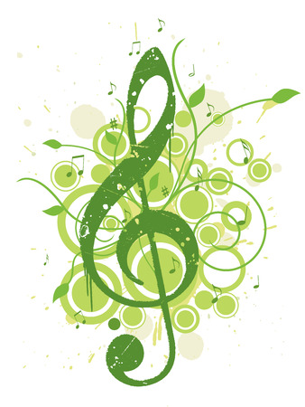 Spring Music Background 일러스트