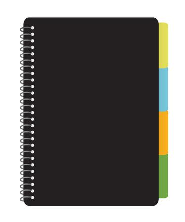 Notebook Planner met tabbladen Vector Illustratie