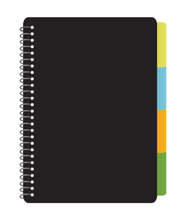 Notebook Planner with Tabs Stock Vector - 4653777